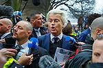 20170218,  Nederland, Spijkenisse, Geert Wilders PVV op campagne <br /> foto Michael Kooren