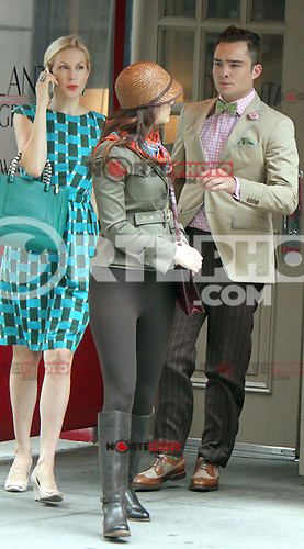 August 10, 2012  Ed Westwick, Kelly Rutherford, Marcil Leighton shooting on location for  Gossip Girl in New York City.Credit:&copy; RW/MediaPunch Inc. /NortePhoto.com*<br /> <br /> **CREDITO*OBLIGATORIO** <br /> *No*Venta*A*Terceros*<br /> *No*Sale*So*third*<br /> *** No Se Permite Hacer Archivo**