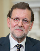 Mariano Rajoy Brey, President of the Government of the Kingdom of Spain (Prime Minister) meets United States President Barack Obama (not pictured) in the Oval Office of the White House in Washington, D.C. on Monday, January 13, 2014.<br /> Credit: Ron Sachs / Pool via CNP