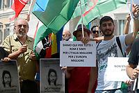 Roma, 2 Agosto 2018<br /> Vauro Senesi<br /> Manifestazione davanti il Parlamento delle comunit&agrave; Sinti e Rom per protestare contro intolleranza e discriminazione e per ricordare la strage nazista del 2 Agosto 1944