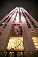 NOVA YORK, EUA, 02.06.2019 - TURISMO-EUA - Rockefeller Center na cidade de Nova York nos Estados Unidos na noite deste domingo, 02. (Foto: William Volcov/Brazil Photo Press)