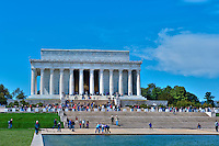 Lincoln Memorial, Reflecting Pond, National Mall, Washington DC, Nations Capital, USA,