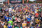 © Joel Goodman - 07973 332324. 15/10/2017 . Manchester , UK . Athletes at the start line , taking part in the Greater Manchester Half Marathon in Old Trafford . Photo credit : Joel Goodman