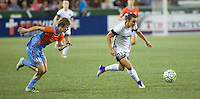 Portland, OR - Wednesday Sept. 07, 2016: Hayley Raso, Rebecca Moros during a regular season National Women's Soccer League (NWSL) match between the Portland Thorns FC and the Houston Dash at Providence Park.