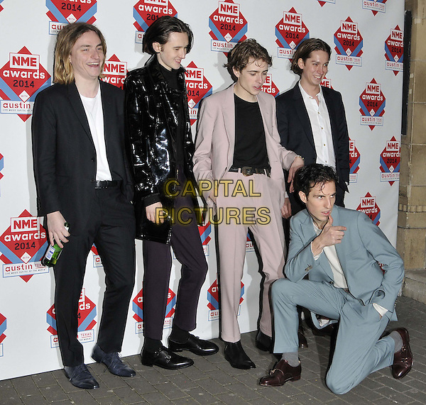 LONDON, ENGLAND - FEBRUARY 26: Swim Deep attend the NME Awards 2014, O2 Academy Brixton, February 26, 2014 in London, England, UK.<br /> CAP/CAN<br /> &copy;Can Nguyen/Capital Pictures