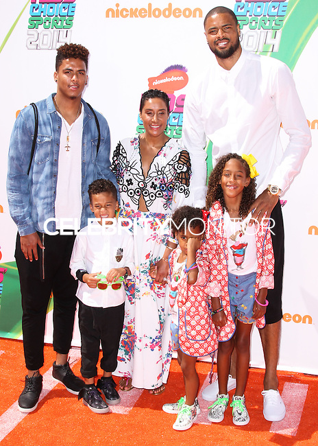 WESTWOOD, LOS ANGELES, CA, USA - JULY 17: Kimberly Chandler, Tyson Chandler at the Nickelodeon Kids' Choice Sports Awards 2014 held at UCLA's Pauley Pavilion on July 17, 2014 in Westwood, Los Angeles, California, United States. (Photo by Xavier Collin/Celebrity Monitor)