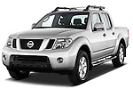 Front three quarter view of 2010 Nissan Navara LE 4 door Pick-Up Truck Stock Photo
