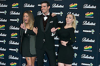 Alyson Eckmann, Uri Sabat and Daniela Blume attend the 40 Principales Awards at Barclaycard Center in Madrid, Spain. December 12, 2014. (ALTERPHOTOS/Carlos Dafonte) /NortePhoto