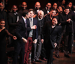 Lea Salonga, Howard McGillin, Michael Arden, Dick Latessa, Jarrod Emick, Matt Cavenaugh & Stafford Arima with Company during the Curtain Call for the Manhattan Concert Production of 'Ragtime - In Concert' at Avery Fisher Hall in New York City on 2/18/2013