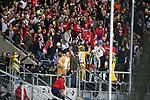 10.02.2018, Wirsol Rhein-Neckar-Arena, Sinsheim, GER, 1.FBL, TSG 1899 Hoffenheim vs FSV Mainz 05, im Bild<br />Aufgebrachte Mainzer Fans nach der Niederlage, weil die Mainzer Spieler direkt in die Kabine gegangen sind<br /> Foto &copy; nordphoto / Bratic