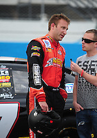 Apr 16, 2009; Avondale, AZ, USA; NASCAR Camping World Series West driver Andrew Myers prior to the Jimmie Johnson Foundation 150 at Phoenix International Raceway. Mandatory Credit: Mark J. Rebilas-