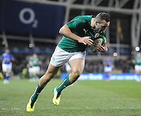9th November 2013; Dave Kearney, Ireland, goes over for his second try. Autumn International Series, Ireland v Samoa, Aviva Stadium, Dublin. Picture credit: Tommy Grealy/actionshots.ie.