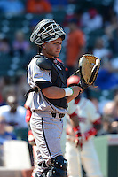 Catcher Tim Susnara (2) of St. Francis High School in Redwood City, California during the Under Armour All-American Game on August 24, 2013 at Wrigley Field in Chicago, Illinois.  (Mike Janes/Four Seam Images)