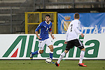 Simone Pecorini in action during the Four Nations football match tournament Italy vs Germany at Rovereto, on November 14, 2013.  <br /> <br /> Pierre Teyssot