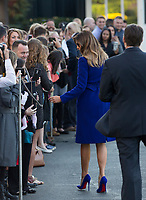 First lady Melania Trump greets well wishers before departing the White House in Washington, DC, November 3, 2017 for a multi-day trip to Hawaii and then on to Asia.<br /> Credit: Chris Kleponis / CNP /MediaPunch