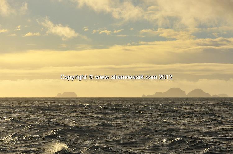 The Meyer Islets, Raoul Island, Kermadecs at Sunset.