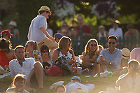 Fans enjoying the late afternoon sunshine on Murray Mound<br /> <br /> Photographer Ashley Western/CameraSport<br /> <br /> Wimbledon Lawn Tennis Championships - Day 5 - friday 7th July 2017 -  All England Lawn Tennis and Croquet Club - Wimbledon - London - England<br /> <br /> World Copyright &not;&copy; 2017 CameraSport. All rights reserved. 43 Linden Ave. Countesthorpe. Leicester. England. LE8 5PG - Tel: +44 (0) 116 277 4147 - admin@camerasport.com - www.camerasport.com
