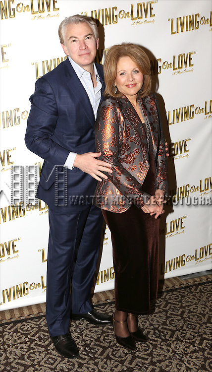 Douglas Sills and Renee Fleming attend the 'Living on Love' photo call at the Empire Hotel on March 12, 2015 in New York City.