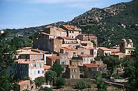 France/2B/Haute Corse/Balagne/Pigna: le village