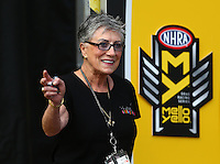 Jul 24, 2016; Morrison, CO, USA; NHRA former driver Shirley Muldowney in attendance during the Mile High Nationals at Bandimere Speedway. Mandatory Credit: Mark J. Rebilas-USA TODAY Sports