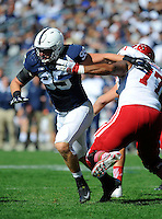 10 October 2015:  Penn State DE Carl Nassib (95) rushes the QB around Indiana T Dimitric Camiel (77). The Penn State Nittany Lions defeated the Indiana Hoosiers 29-7 at Beaver Stadium in State College, PA. (Photo by Randy Litzinger/Icon Sportswire)
