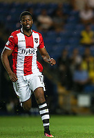 Joel Grant of Exeter City in action during the The Checkatrade Trophy match between Oxford United and Exeter City at the Kassam Stadium, Oxford, England on 30 August 2016. Photo by Andy Rowland / PRiME Media Images.