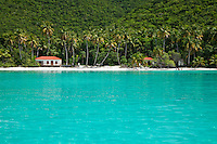 Maho Bay<br /> With the newly restored pavilion<br /> Virgin Islands National Park<br /> St. John<br /> U.S. Virgin Islands