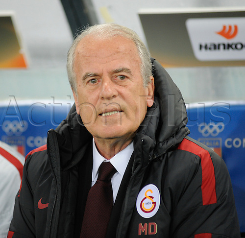 25.02.2016. Stadio Olimpico, Rome, Italy. Uefa Europa League, Return leg of SS Lazio versus Galatasaray. Coach of Galatasaray Mustafa Denizli