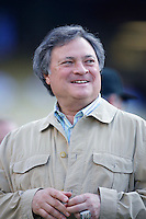 Florida Marlins Owner Jeffery Loria during batting practice before a game from the 2007 season at Dodger Stadium in Los Angeles, California. (Larry Goren/Four Seam Images)