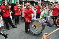 Brass band playing at a barangay fiesta; Santa Mesa, Manila. 18 May 2003