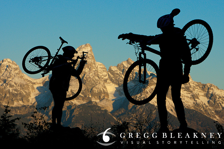 Mountain Bikers - Grand Teton National Park - Jackson - Wyoming - USA