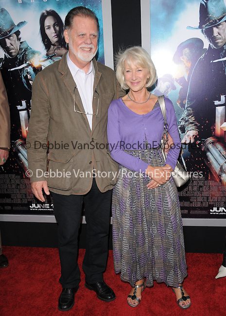 Helen Mirren & Taylor Hackford at the Warner Bros. Pictures Special Screening of Jonah Hex in Hollywood, California on June 17,2010                                                                               © 2010 Debbie VanStory / Hollywood Press Agency