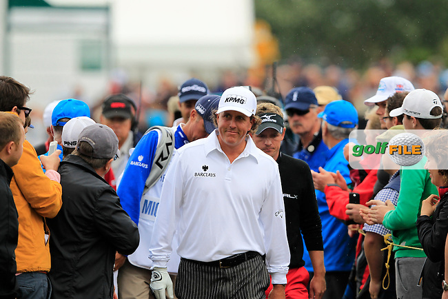 Phil Mickelson (USA) walks to the 12th tee during Friday's Round 2 of the 141st Open Championship at Royal Lytham & St.Annes, England 20th July 2012 (Photo Eoin Clarke/www.golffile.ie)