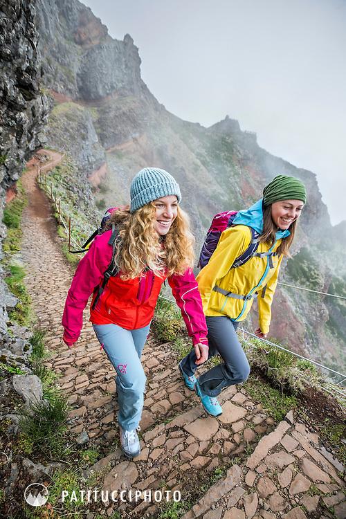 Hiking at Pico do Arieiro, Madeira Island's highest peak