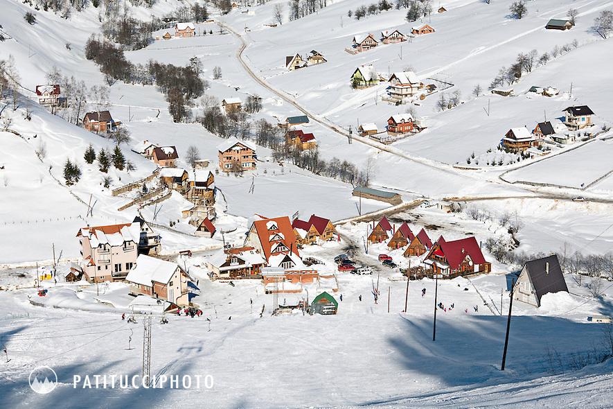 The tiny ski resort of Boge, Kosovo