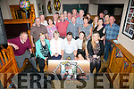 Francis Paul Lawlor from Ardfert celebrating his 60th birthday with family and friends on Friday night at McElligott's Bar Ardfert