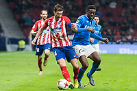 Atletico de Madrid Gabi Fernandez and Lleida Esportiu Mousa Bandeh during King's Cup match between Atletico de Madrid and Lleida Esportiu at Wanda Metropolitano in Madrid, Spain. January 09, 2018. (ALTERPHOTOS/Borja B.Hojas) /NortePhoto.com NORTEPHOTOMEXICO