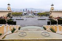 Spain, Barcelona. Plaça d'Espanya at the foot of Montjuïc.