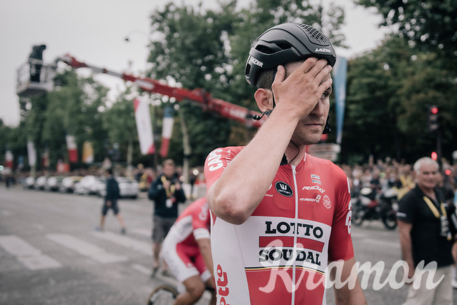 the surprise debut rider of this Tour: Tiesj Benoot (BEL/Lotto-Soudal) who finishes 20th overall in his very first Grand Tour; a huge result for a rider who's mainly considered a typical classics rider...<br /> <br /> 104th Tour de France 2017<br /> Stage 21 - Montgeron &rsaquo; Paris (105km)