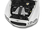 Car stock 2016 Bentley Continental   Flying Spur 4 Door Sedan engine high angle detail view