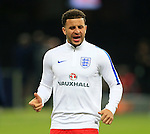 England's Kyle Walker warms up during the International Friendly match at Olympiastadion.  Photo credit should read: David Klein/Sportimage