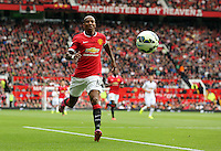Pictured: Ashley Young of Manchester United. Saturday 16 August 2014<br />