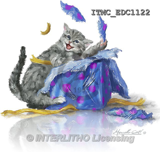Marcello, REALISTIC ANIMALS, REALISTISCHE TIERE, ANIMALES REALISTICOS, paintings+++++,ITMCEDC1122,#A# ,cats ,kittens