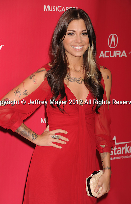 LOS ANGELES, CA - FEBRUARY 10: Christina Perri arrives at The 2012 MusiCares Person of The Year Gala Honoring Paul McCartney at Los Angeles Convention Center on February 10, 2012 in Los Angeles, California.