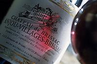 Europe/France/Pays de la Loire/49/Maine-et-Loire/Brissac: Le château - Détail étiquette du vin du château AOC Anjou Village Brissac