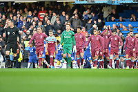 West Ham players come out of the tunnel during Chelsea vs West Ham United, Premier League Football at Stamford Bridge on 30th November 2019