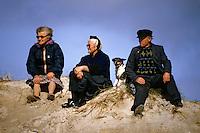 Europe/France/Bretagne/29/Finistère/Pointe de la Torche: Spectateurs du championnat du monde de Windsurf [Non destiné à un usage publicitaire - Not intended for an advertising use]<br /> PHOTO D'ARCHIVES // ARCHIVAL IMAGES<br /> FRANCE 1990
