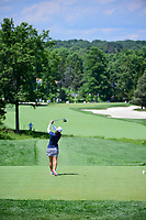 Marina Alex (USA) watches her tee shot on 2 during Saturday's third round of the 72nd U.S. Women's Open Championship, at Trump National Golf Club, Bedminster, New Jersey. 7/15/2017.<br /> Picture: Golffile | Ken Murray<br /> <br /> <br /> All photo usage must carry mandatory copyright credit (&copy; Golffile | Ken Murray)
