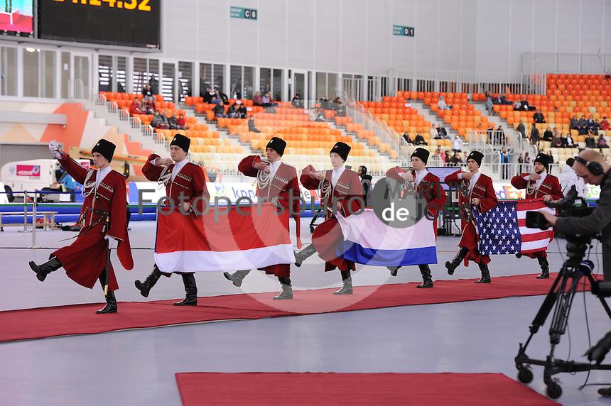 SPEEDSKATING: SOCHI: Adler Arena, 23-03-2013, Essent ISU World Championship Single Distances, Day 3, 1000m Ladies, price giving ceremonie, © Martin de Jong