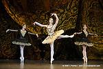 RAYMONDA..Choregraphie : PETIPA Marius,NOUREEV Rudolf.Compagnie : Ballet de l Opera National de Paris.Orchestre : Colone.Decor : GEORGIADIS Nicholas.Lumiere : PEYRAT Serge.Costumes : GEORGIADIS Nicholas.Avec :.GILLOT Marie Agnes:Raymonda.GILBERT Dorothee:Henriette.COZETTE Emilie:Clemence.Lieu : Opera Garnier.Ville : Paris.Le : 30 11 2008.© Laurent PAILLIER / photosdedanse.com